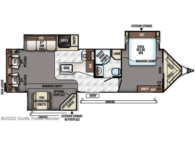 2016 Forest River Rockwood Windjammer 3029W floorplan image