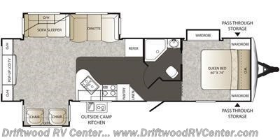2015 Keystone Outback 298RE floorplan image