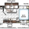 2017 Forest River Rockwood Mini Lite 2109S floorplan image
