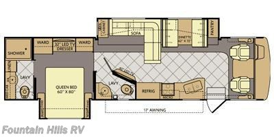 2015 Fleetwood Bounder 35K floorplan image