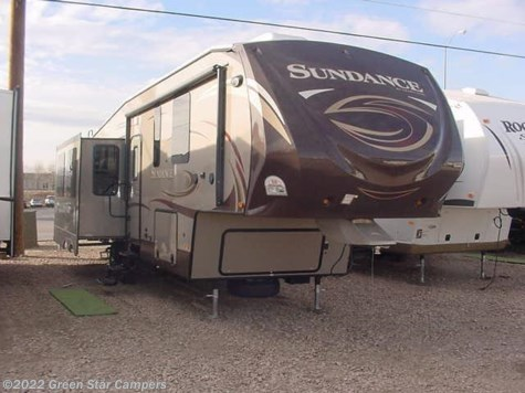New 2014 Heartland RV Sundance 3310CL Rear Living Room For Sale by Green Star Campers available in Rapid City, South Dakota