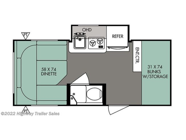 2017 Forest River R-Pod RP-176 floorplan image
