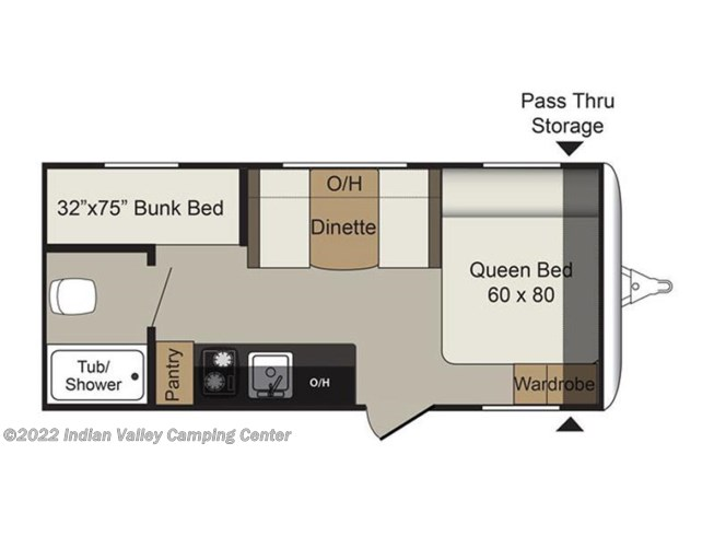 2017 Keystone Passport Ultra Lite Express 175BH floorplan image