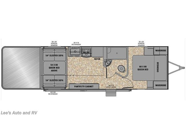 2016 EverGreen RV Reactor 24FQS floorplan image