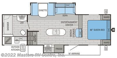 2016 Jayco Jay Flight 28RBDS floorplan image