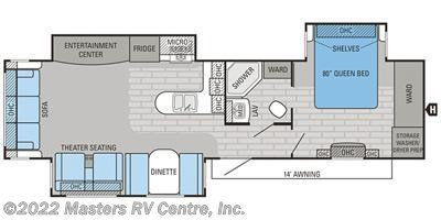 2016 Jayco Jay Flight 34RSBS floorplan image