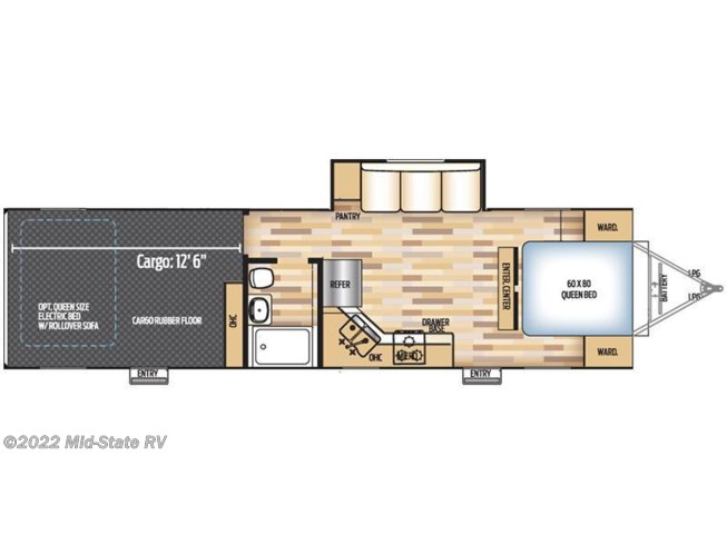 2017 Coachmen Adrenaline 30QBS floorplan image