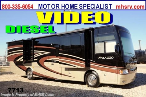 "New 2014 Thor Motor Coach Palazzo 35.1 King, Stack W/D, Res. Fridge & 46"" TV For Sale by Motor Home Specialist available in Alvarado, Texas"