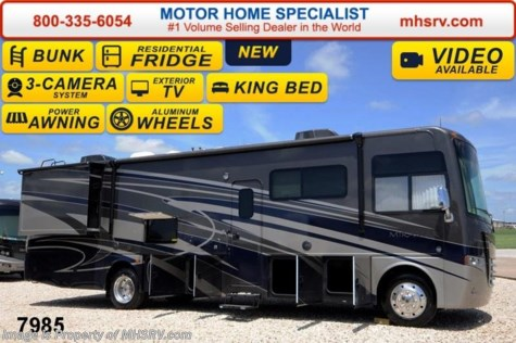 New 2015 Thor Motor Coach Miramar 34.3 Bunk House W/King, OH Bunk, 22K Chassis For Sale by Motor Home Specialist available in Alvarado, Texas