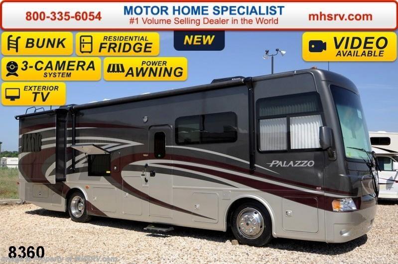 2015 thor motor coach rv palazzo 33 3 bunks ext tv pwr for Motor home specialist inc alvarado texas