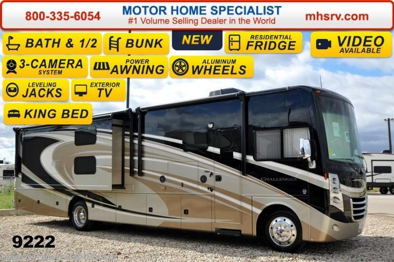 2015 thor motor coach rv challenger 37tb bath 1 2 bunk for Motor home specialist inc alvarado texas