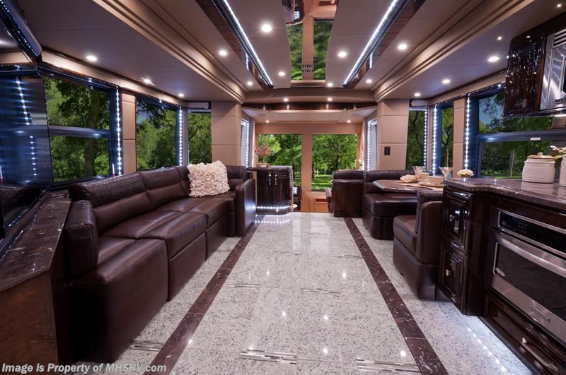2015 prevost rv h3 45 quad slide by outlaw coach the for Million dollar motor coaches