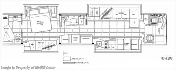 "New 2016 Prevost H3-45 by Outlaw Coach ""The Residency III"" Bath & 1 Floorplan"