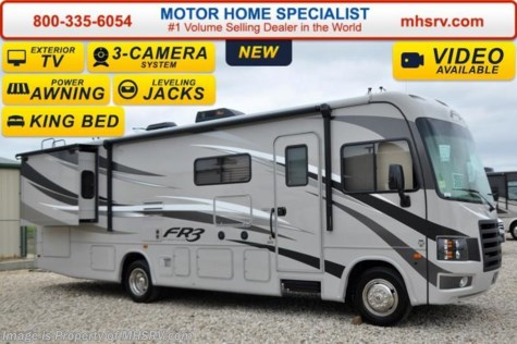 New 2016 forest river fr3 30ds w 2 slide king bed ext for Motor home specialist inc alvarado texas