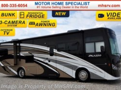2016 Thor Motor Coach Palazzo 33.3 Bunks, Ext. TV, Pwr OH Bunk, Res Fridge