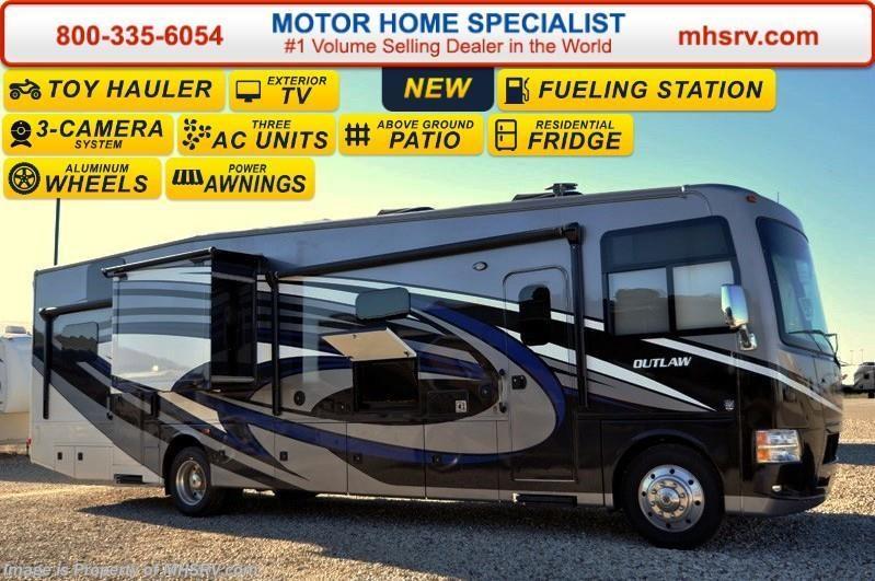 2016 thor motor coach rv outlaw 37rb 26 k chassis patio for Motor home specialist inc alvarado texas