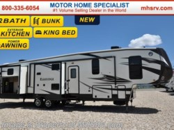 2016 Heartland RV ElkRidge 38RSRT Resort W/2 A/C, 2 Full Baths, King, Jacks