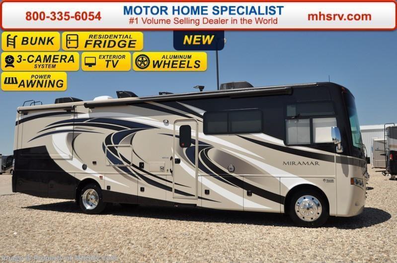 Popular 2017 Thor Motor Coach RV Miramar 343 Bunk Model WKing Bed Theater