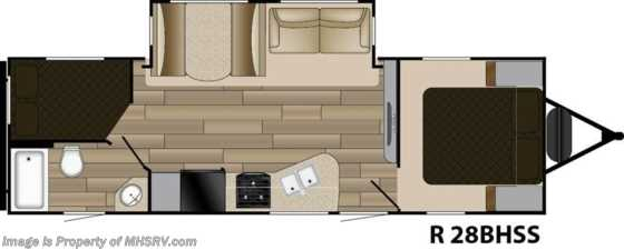 New 2017 Cruiser RV Radiance Touring 28BHSS Bunk for Sale at MHSRV Floorplan