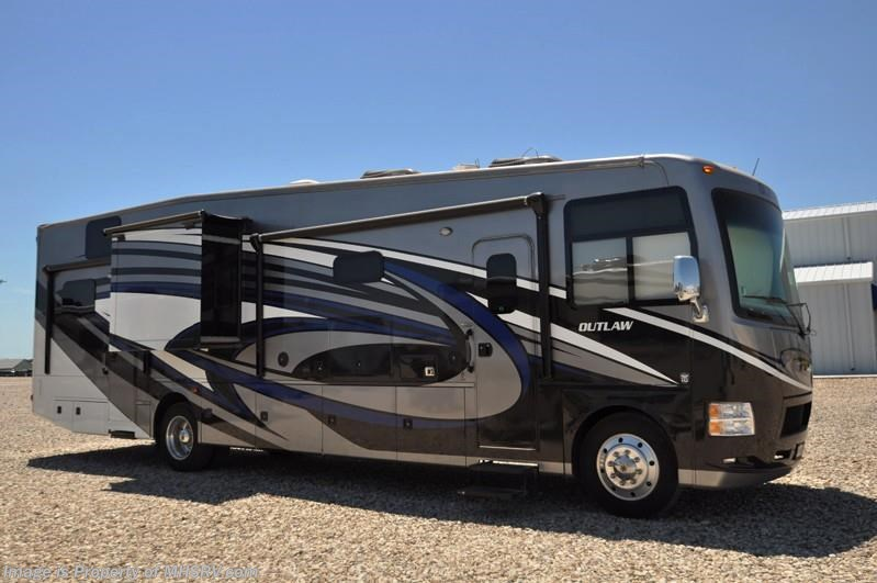 2016 thor motor coach rv outlaw 37rb toy hauler w 2 slides for Motor homes for sale in texas