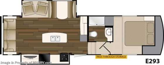 New 2017 Heartland RV ElkRidge Xtreme Light E293 RV for Sale at MHSRV W/2 A/C, 4PT Leveling Floorplan