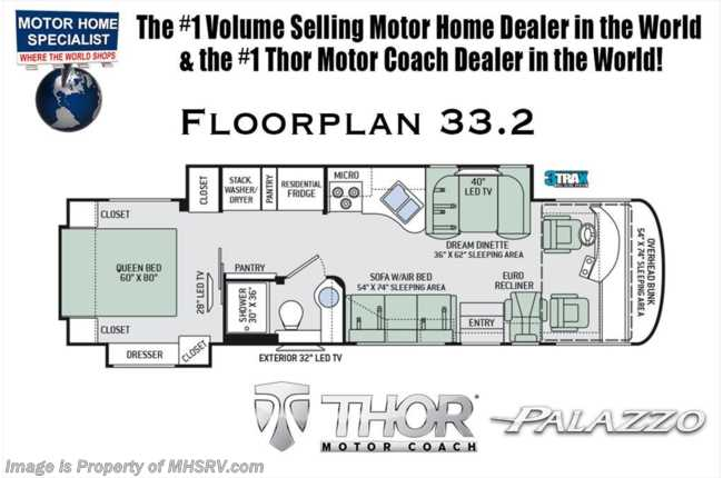 New 2019 thor motor coach palazzo new 2019 thor motor coach palazzo 332 diesel pusher rv with wd oh loft asfbconference2016 Images