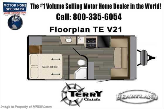 New 2018 Heartland RV Terry Classic V21 for Sale at MHSRV W/Jacks, Rims, Pwr. Awning Floorplan