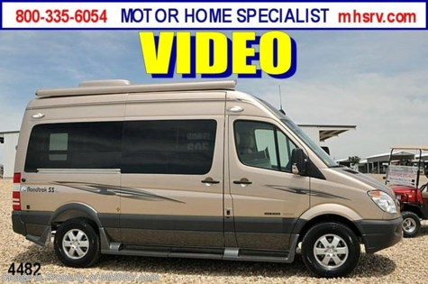 New 2012 Roadtrek SS-Agile Sprinter Diesel RV for Sale For Sale by Motor Home Specialist available in Alvarado, Texas
