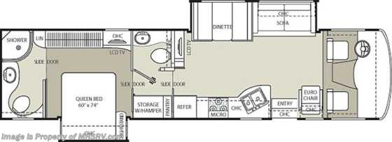 New 2012 Coachmen Mirada Bath & 1/2 RV for Sale W/2 Slides (35DS) Floorplan