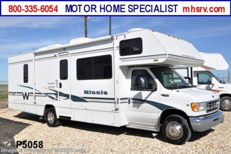 Used 2002 Winnebago Minnie with 2 slides For Sale by Motor Home Specialist available in Alvarado, Texas