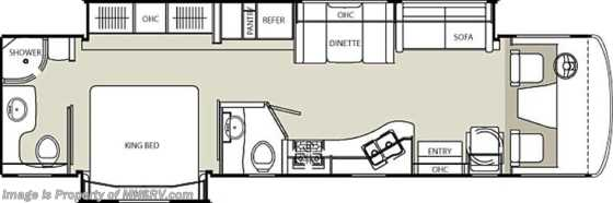 New 2012 Coachmen Encounter Bath & 1/2 RV for Sale (37FW) Floorplan