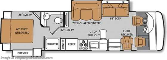 New 2013 Thor Motor Coach Palazzo (33.1) Diesel RV for Sale W/2 Slides Floorplan