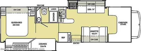 New 2013 Coachmen Freelander  Class C RV for Sale W/Bunk Beds & 2 Slides Floorplan