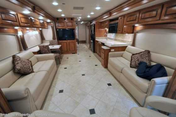 Used 2011 Holiday Rambler Endeavor W/3 Slides (43DFT) Used RV For Sale Floorplan