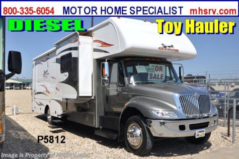 Used 2008 Gulf Stream Gladiator Super C Diesel Toy Hauler For Sale by Motor Home Specialist available in Alvarado, Texas