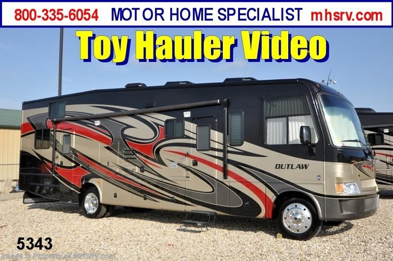 2013 thor motor coach rv outlaw class a toy hauler for Rv motor coaches for sale