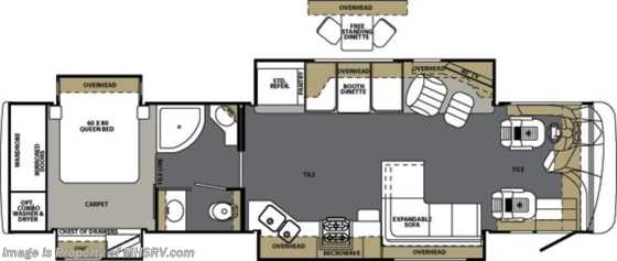 New 2013 Forest River Berkshire W/4 Slides New RV For Sale (390FL-40) Floorplan