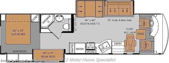 New 2013 Thor Motor Coach Daybreak W/2 Slides BunkHouse RV For Sale 34BD Floorplan
