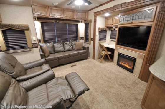 Used 2012 Heartland RV Landmark San Antonio W 4 Slides For Sale Floorplan
