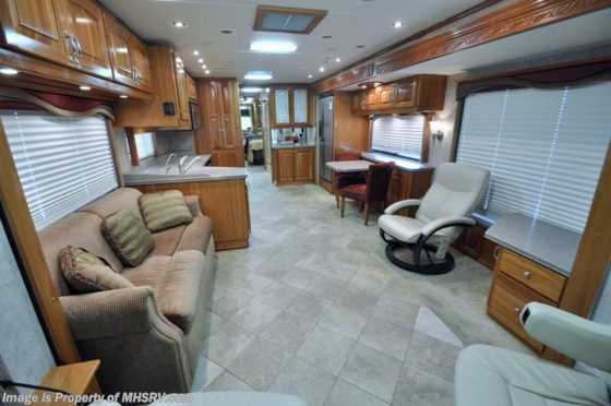 Used 2007 Beaver Contessa W/4 Slides (Bayshore IV) Tag Axle Used RV For Sale Floorplan