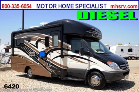 New 2013 Thor Motor Coach Chateau Citation Sprinter (24SA) W/Slide New Diesel RV for Sale For Sale by Motor Home Specialist available in Alvarado, Texas