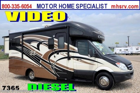 New 2014 Thor Motor Coach Chateau Citation Sprinter W/2 Slides 24SR Diesel RV for Sale For Sale by Motor Home Specialist available in Alvarado, Texas