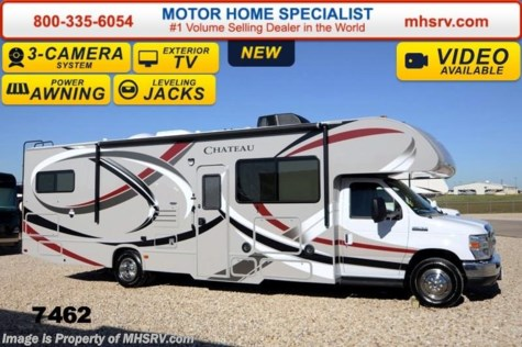 New 2014 Thor Motor Coach Chateau 31F W/Jacks,  3 TVs, 3 Cams, 15K A/C For Sale by Motor Home Specialist available in Alvarado, Texas