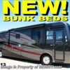 New 2009 Forest River Berkshire class a rv  (390BH BUNKS W/QUEEN) w/4 Slides For Sale by Motor Home Specialist available in Alvarado, Texas