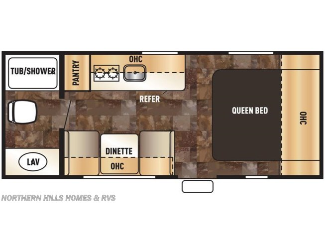 2016 Forest River Wolf Pup 16FQ floorplan image