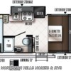 2018 Forest River Flagstaff E-Pro E16BH floorplan image