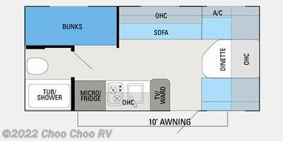 2013 Jayco Jay Flight Swift SLX 184BH floorplan image