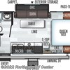 2019 Forest River Flagstaff Micro Lite 21FBRS floorplan image