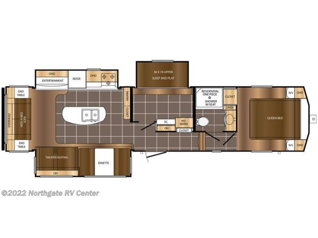 2017 Prime Time Crusader Lite 34MB floorplan image