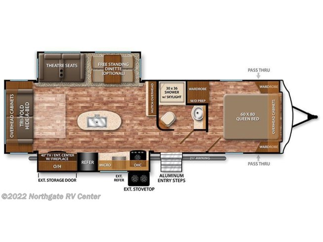 2017 Grand Design Reflection 297RSTS floorplan image